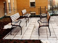 Wooden Bench with armrests ACCESS - Nola Industrier