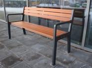 Wooden Bench with armrests FRANK - Nola Industrier