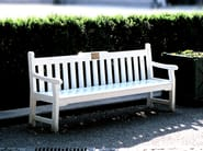 Wooden Bench with armrests HAGA - Nola Industrier