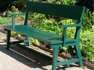 Wooden Bench with armrests HJORTHAGEN | Bench - Nola Industrier