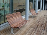 Wooden Bench with back KAJEN | Bench - Nola Industrier