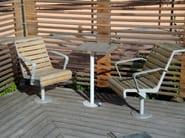 Wooden outdoor chair LE SOLEIL - Nola Industrier