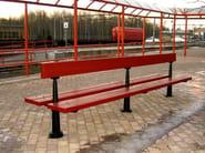 MDF Bench with back NOVA - Nola Industrier