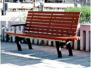 Pine Bench with back SERGEL | Bench - Nola Industrier