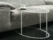 Oval crystal and steel coffee table EGGS - F.lli Orsenigo