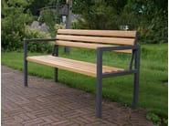 Wooden Bench with armrests SPARTA - Nola Industrier