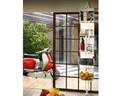 Sectional floor-ceiling mounted metal bookcase CARPE DIEM - F.lli Orsenigo