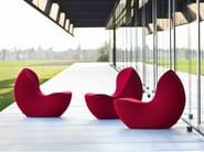 Upholstered microfiber armchair NAUTILE - La Cividina