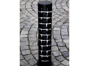 Cylindrical steel bollard post FERN - Nola Industrier