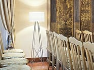Chrome plated floor lamp RAY F - FLOS