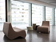 Upholstered guest chair STONES | Armchair - La Cividina