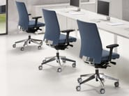 Task chair with 5-Spoke base with armrests ITEK 200 | Task chair with 5-Spoke base - Inclass Mobles