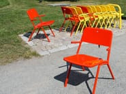 Powder coated steel outdoor chair SHARE - Nola Industrier