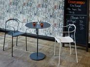 Round steel High table KYPARN   Garden side table - Nola Industrier