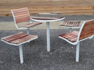 Steel and wood outdoor chair PARCO | Steel and wood outdoor chair - Nola Industrier