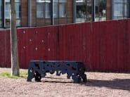 Stackable backless powder coated steel Bench SCATTER - Nola Industrier