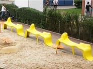 Backless plastic bench seating DIAGRAM - Nola Industrier