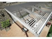 Aluminium pergola with adjustable louvers TETTOIA ECLISSI - TENDA SERVICE