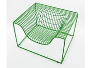 Steel armchair with armrests GRID - Nola Industrier