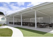 Freestanding pergola with adjustable louvers LONGWAY CONCEPT - TENDA SERVICE