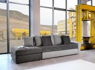 Sectional convertible fabric sofa DUFFY | Sectional sofa - Domingo Salotti