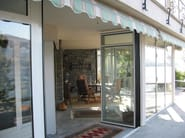 Thermal break aluminium folding door DV 70 | Folding door - FRUBAU
