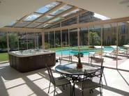 Aluminium conservatory canopy SUNROOF copertura mobile - FRUBAU