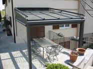 Glass and aluminium canopy Fixed cover - FRUBAU