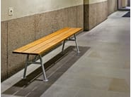 Backless wooden Bench ALNÖN | Bench - Nola Industrier