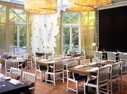 Rectangular steel Restaurant table BLECK - Nola Industrier