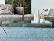 Low glass coffee table TAKY - SOVET ITALIA