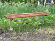 Backless steel and wood Bench CITY   Bench - Nola Industrier