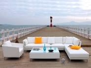 Square Stamskin® garden footstool SAO PAULO   Garden footstool - Sérénité Luxury Monaco
