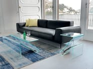 Glass coffee table with integrated magazine rack ZETA - SOVET ITALIA
