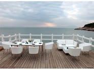 Rectangular garden side table SAO PAULO | Garden side table - Sérénité Luxury Monaco