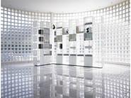 Open modular aluminium bookcase CWAVE - Dieffebi
