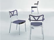 Stackable technopolymer chair HACKER - GABER