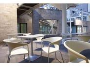 Design aluminium chair with armrests TERRASSE - GABER