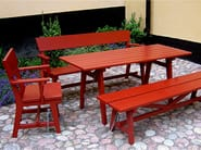 Rectangular wooden garden table HJORTHAGEN | Rectangular garden table - Nola Industrier