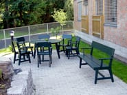 Scandinavian style wooden garden armchair HJORTHAGEN | Garden armchair - Nola Industrier