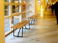 Steel and wood bench seating KWAI - Nola Industrier