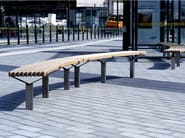 Curved steel and wood Bench LUMA | Curved Bench - Nola Industrier