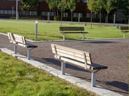 Steel and wood Bench with back LUMA | Bench with back - Nola Industrier