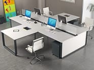 Sectional workstation desk ELLY | Sectional office desk - TECNITALIA