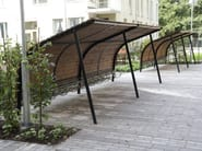 Steel and wood porch for bicycles and motorcycles REVET - Nola Industrier