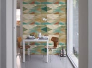 Geometric panoramic wallpaper PUEBLO - Inkiostro Bianco