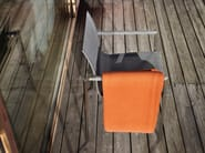 Stackable chair with armrests PURE STAINLESS STEEL | Stackable chair - solpuri