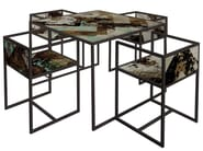 Square painted metal table QR-2A/2B - MOMENTI di Bagnai Matteo