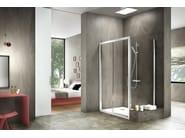 Corner rectangular glass and aluminium shower cabin STILA 2000 - DUKA
