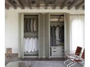 Solid wood wardrobe with sliding doors QUADRA | Wardrobe - Devina Nais